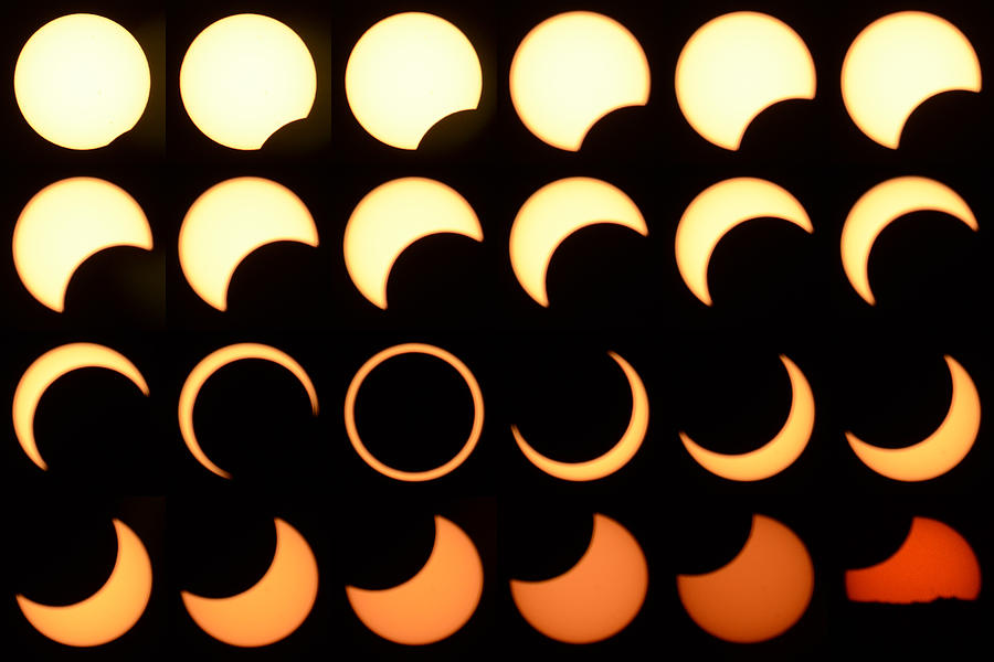 Annular Solar Eclipse Page Arizona May 20 2012 Photograph