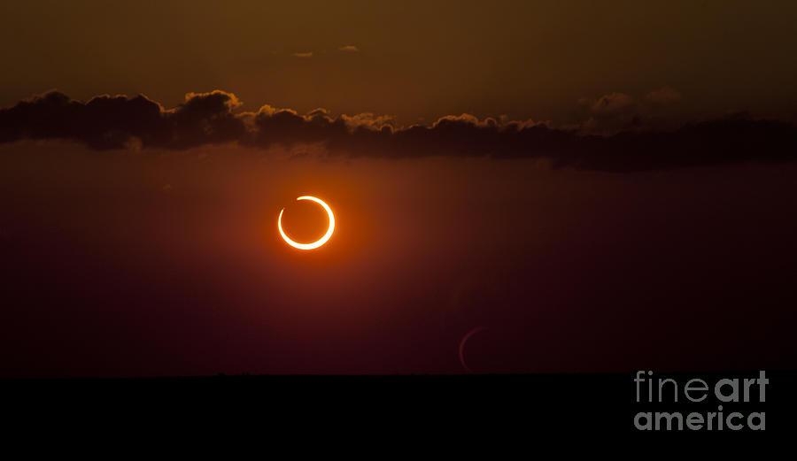 Natural Phenomenon Photograph - Annular Solar Eclipse by Phillip Jones