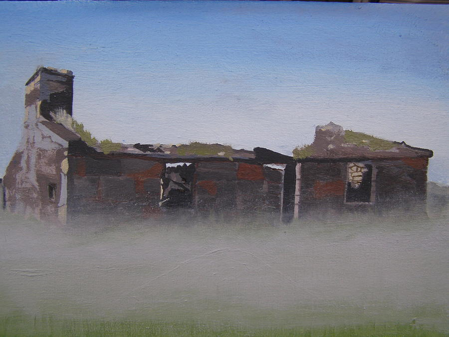 Landscape Painting - Another Abandoned Croft by Eric Burgess-Ray