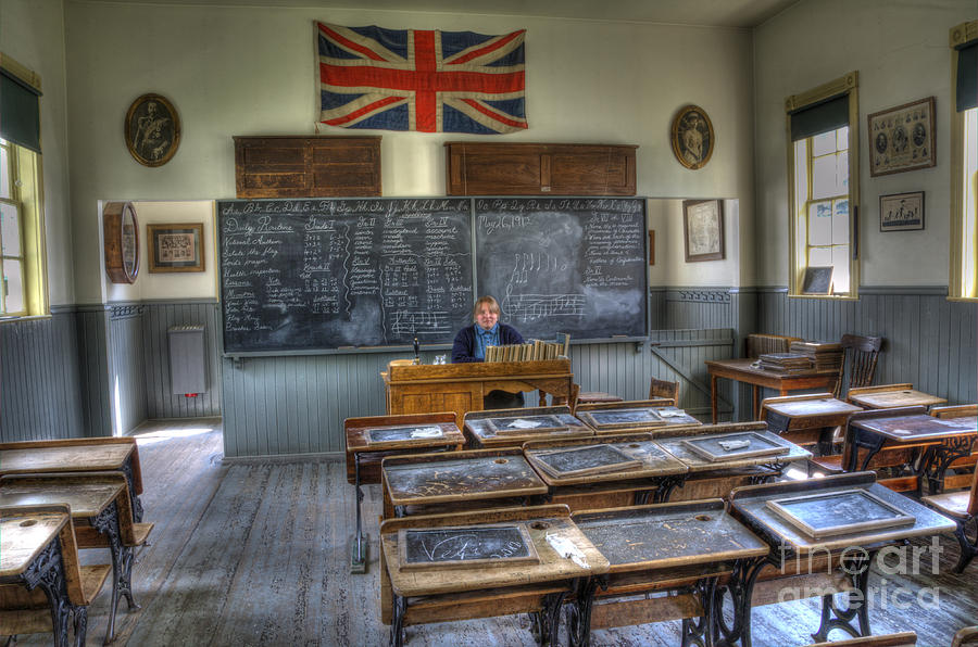 School Photograph - Another Brick In The Wall by Bob Christopher