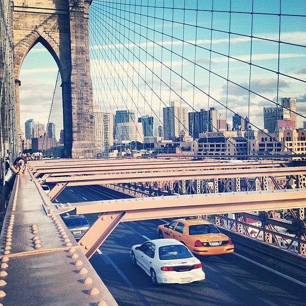 Summer Photograph - Another Day On Brooklyn Bridge by Randy Lemoine