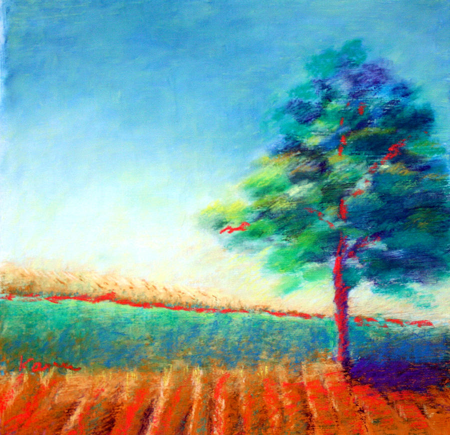 Landscape Painting - Another Tree In A Field by Karin Eisermann