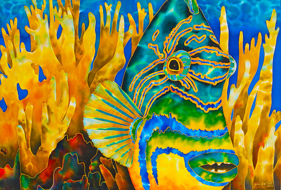 Fire Coral Painting - Anse Chastanet by Daniel Jean-Baptiste