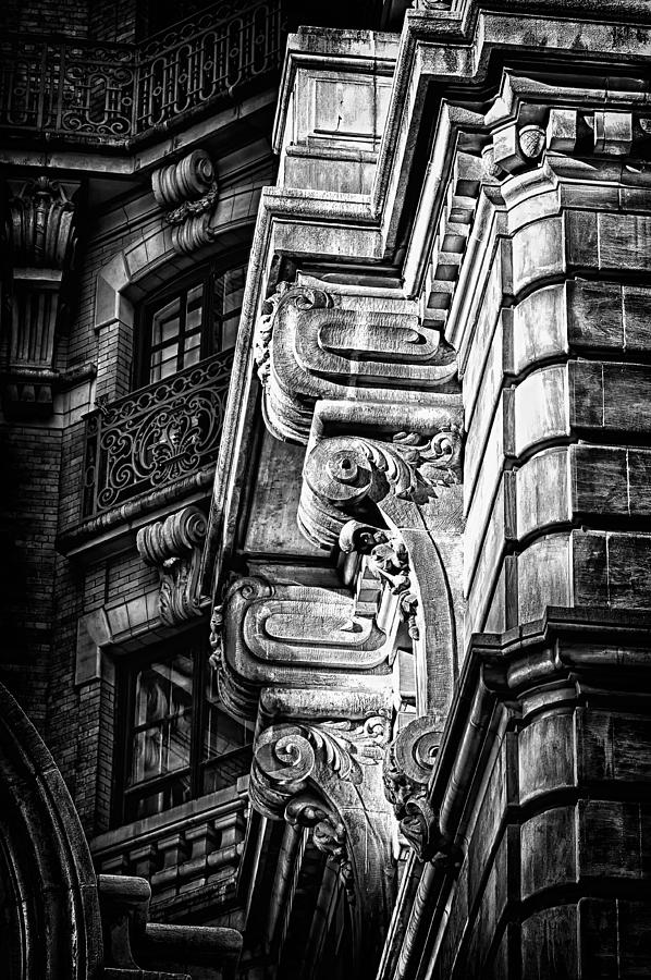 Us Photograph - Ansonia Building Detail 1 by Val Black Russian Tourchin