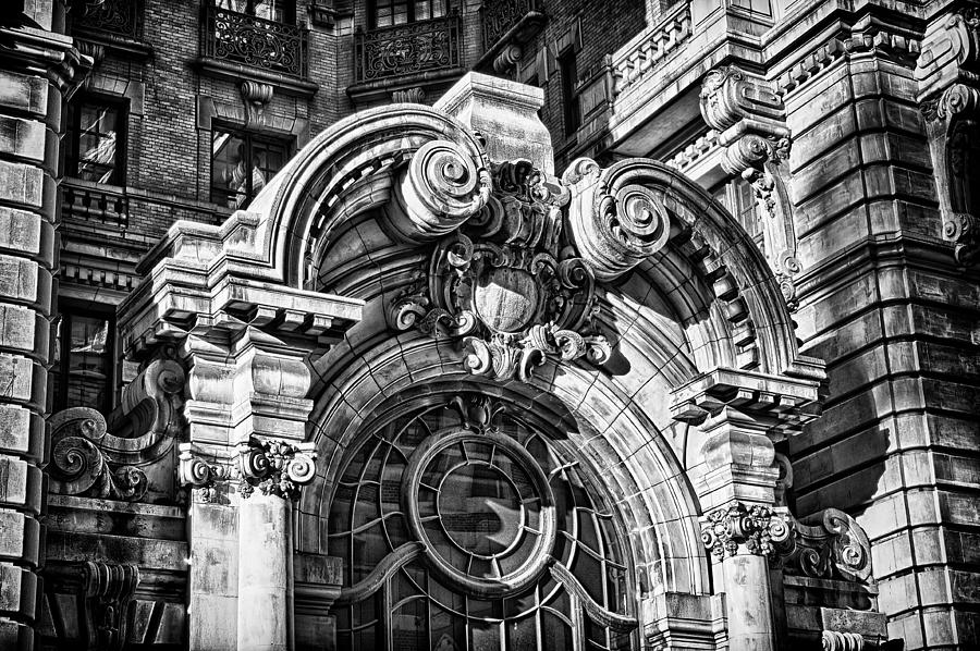 Us Photograph - Ansonia Building Detail 2 by Val Black Russian Tourchin