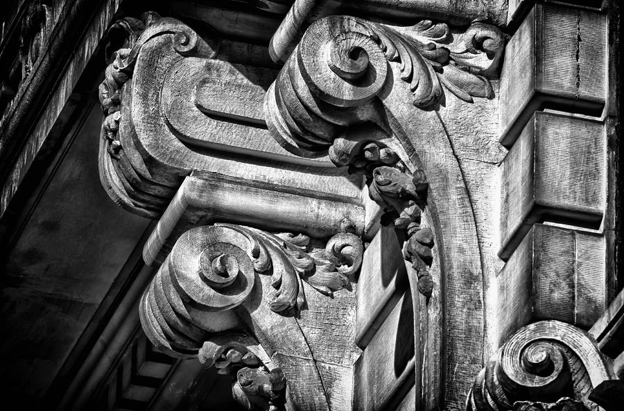 Us Photograph - Ansonia Building Detail 21 by Val Black Russian Tourchin