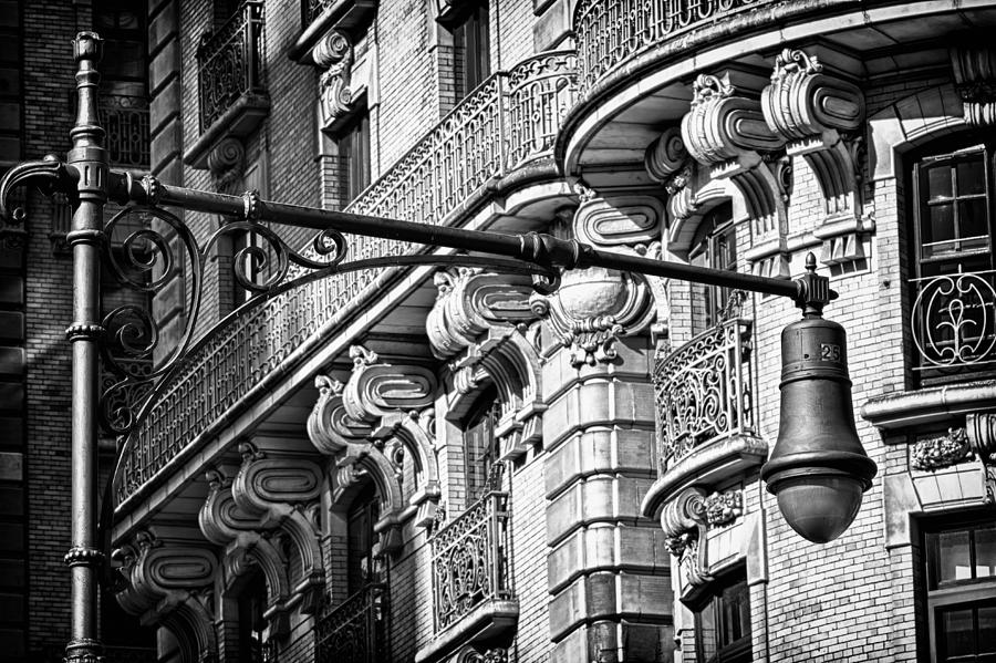 Us Photograph - Ansonia Building Detail 34 by Val Black Russian Tourchin