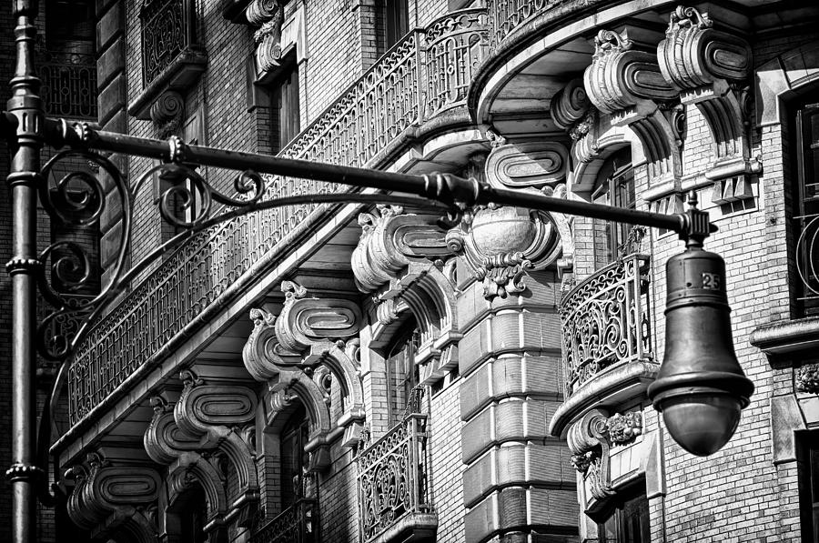 Us Photograph - Ansonia Building Detail 35 by Val Black Russian Tourchin