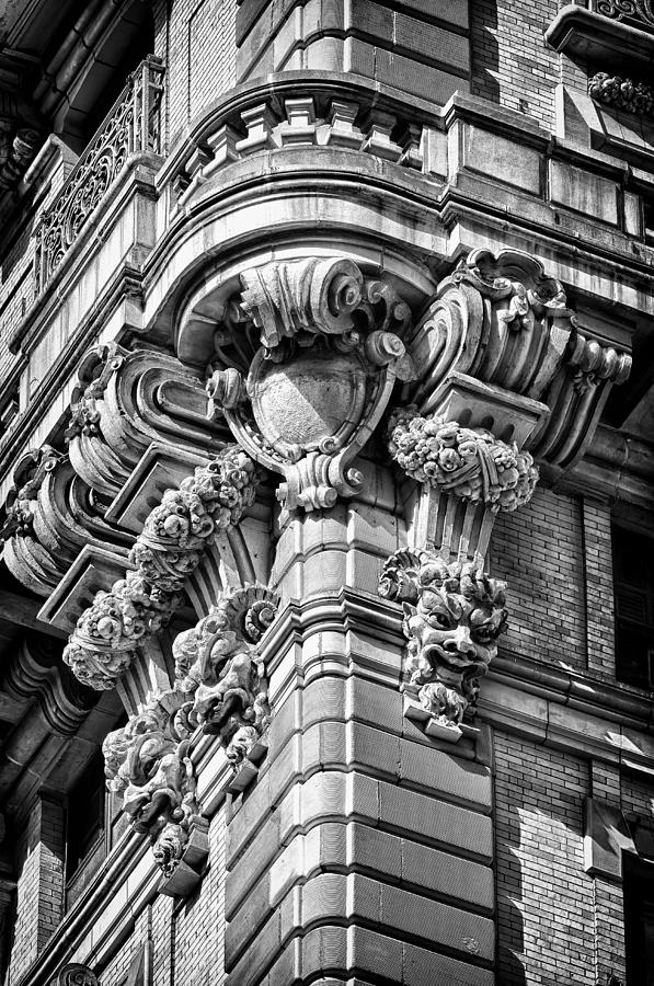Us Photograph - Ansonia Building Detail 40 by Val Black Russian Tourchin