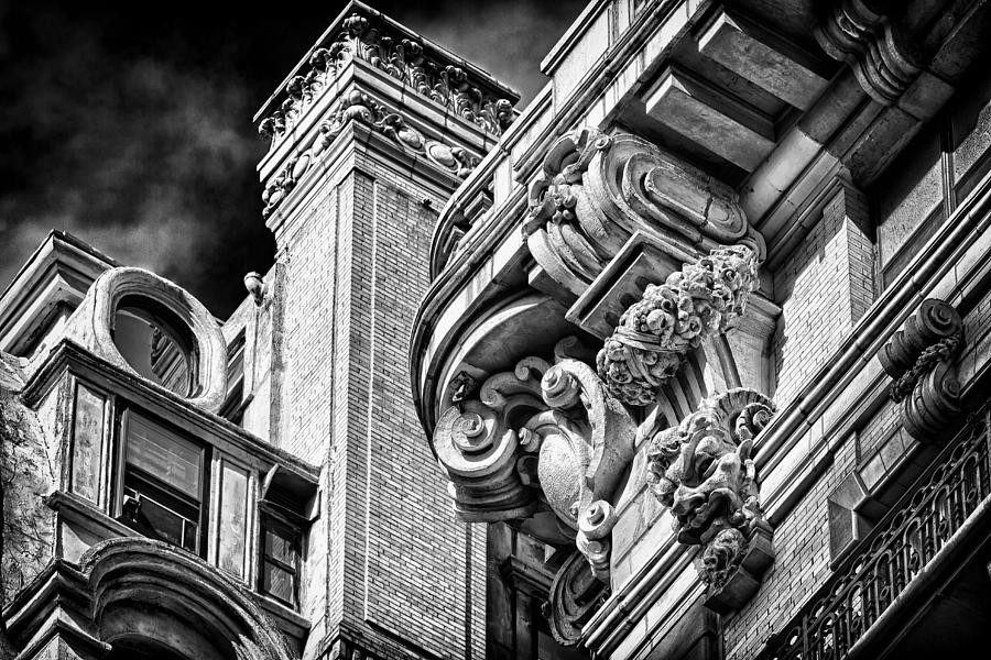 Us Photograph - Ansonia Building Detail 41 by Val Black Russian Tourchin