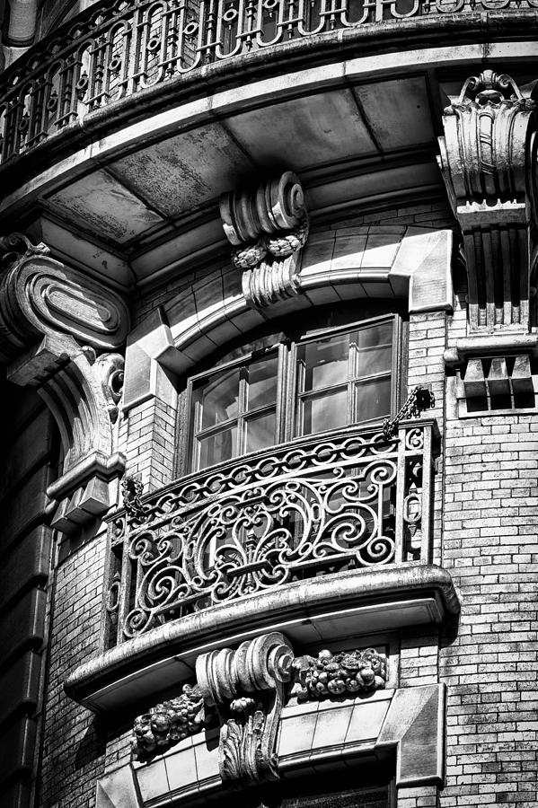 Us Photograph - Ansonia Building Detail 43 by Val Black Russian Tourchin
