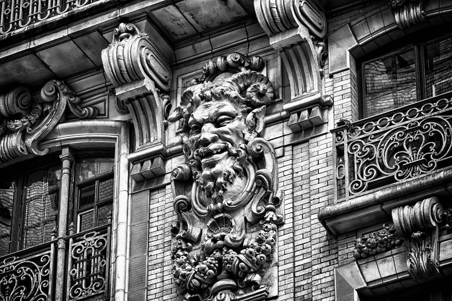 Us Photograph - Ansonia Building Detail 44 by Val Black Russian Tourchin