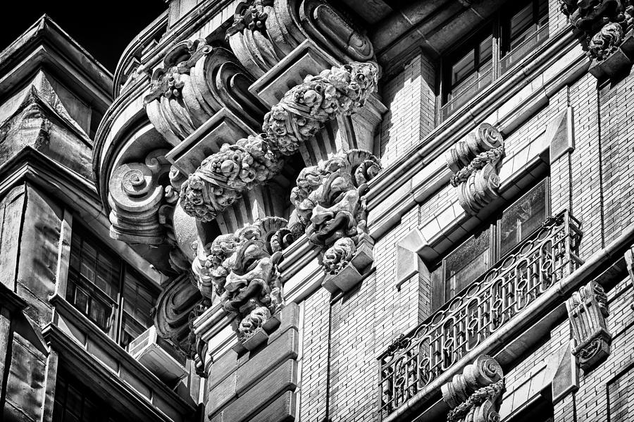 Us Photograph - Ansonia Building Detail 45 by Val Black Russian Tourchin