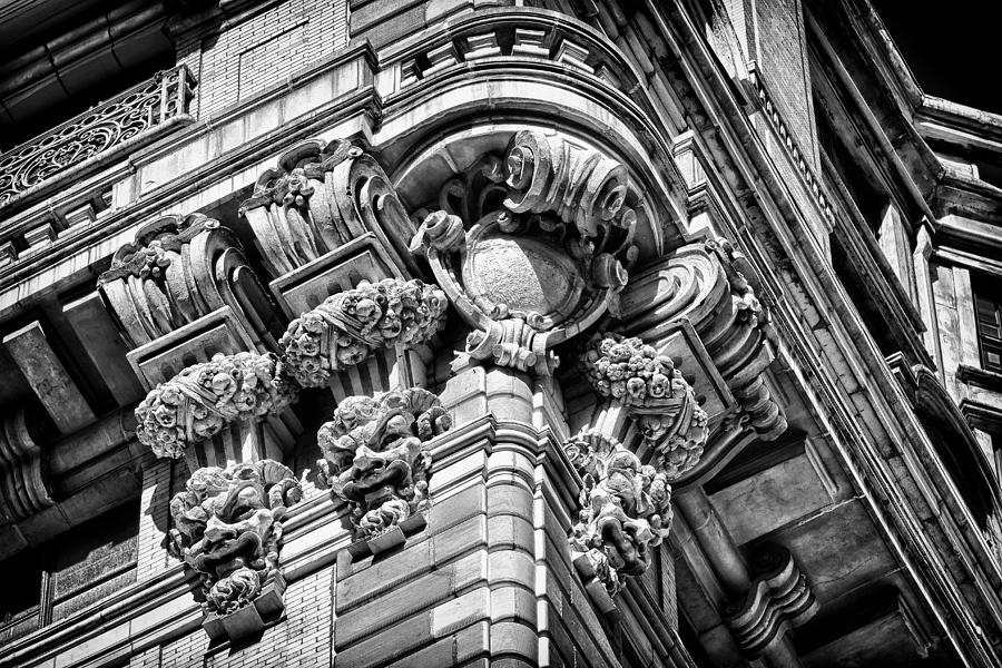 Us Photograph - Ansonia Building Detail 46 by Val Black Russian Tourchin