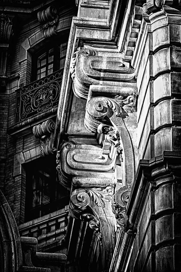 Us Photograph - Ansonia Building Detail 49 by Val Black Russian Tourchin