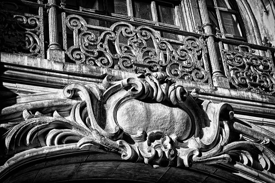 Us Photograph - Ansonia Building Detail 5 by Val Black Russian Tourchin