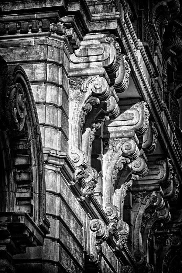 Us Photograph - Ansonia Building Detail 7 by Val Black Russian Tourchin