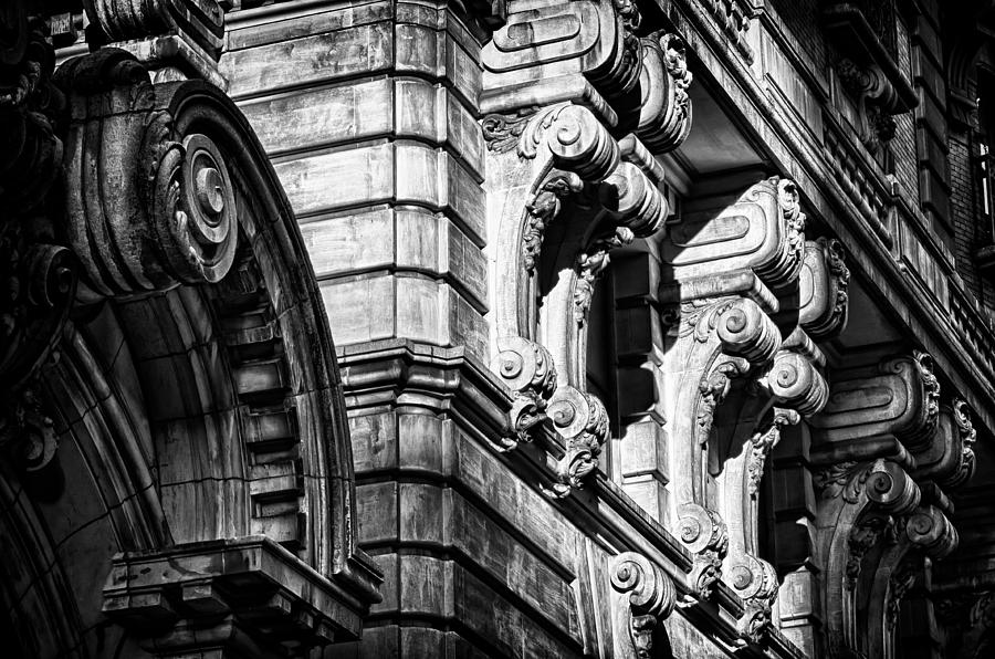 Us Photograph - Ansonia Building Detail 8 by Val Black Russian Tourchin