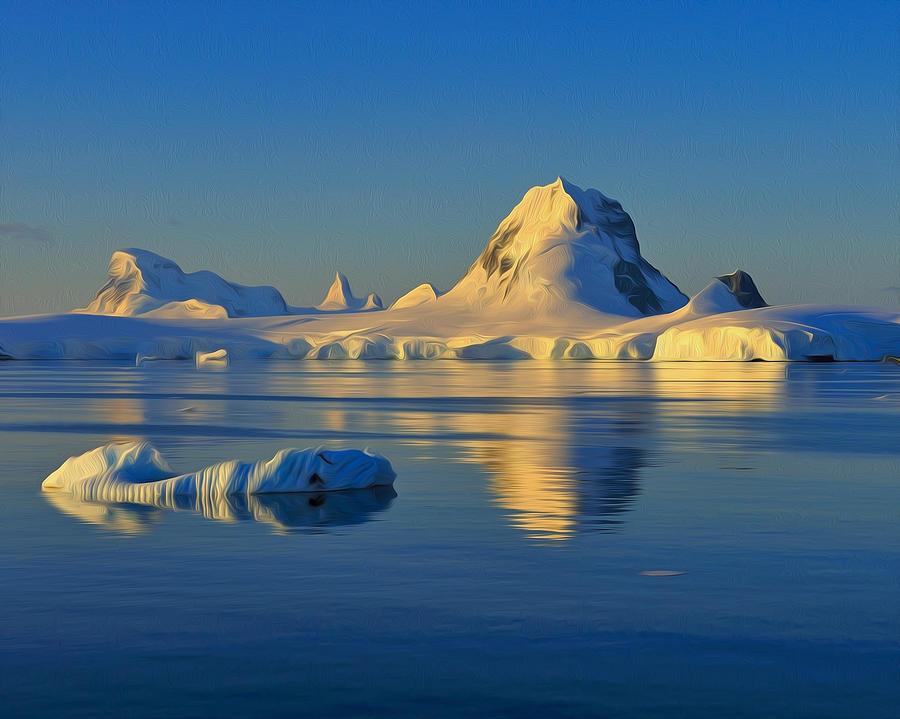 Ice Berg Photograph - Antarctic Dusk by Tony Beck