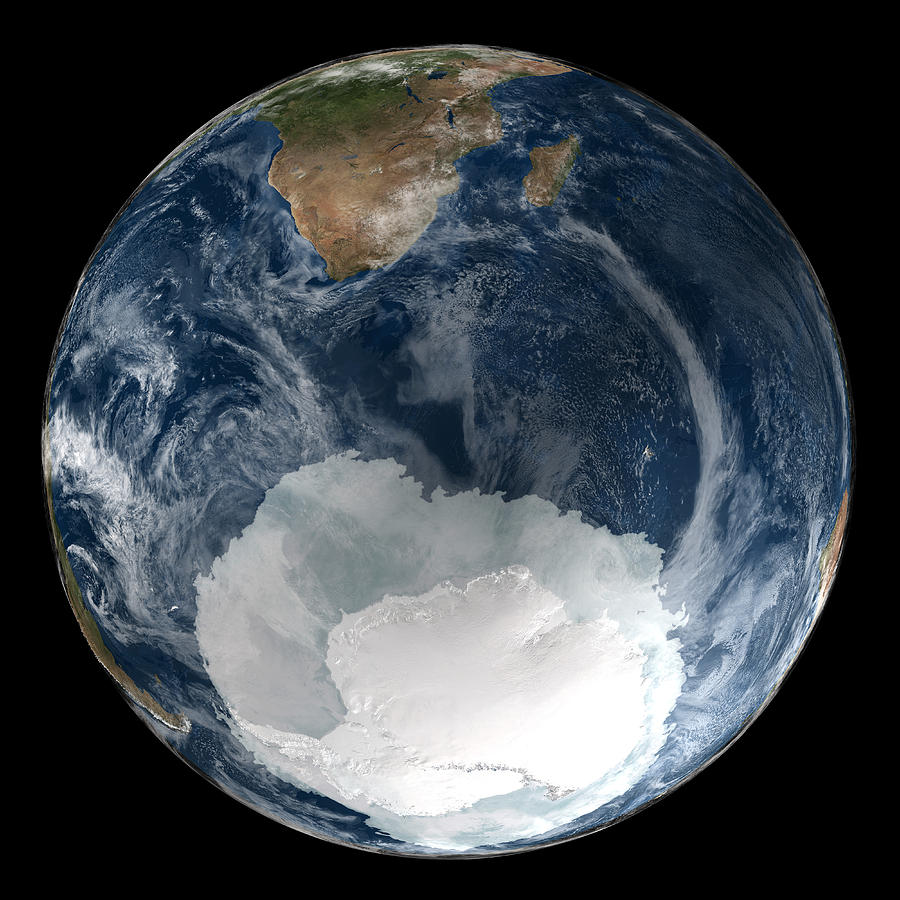 Earth Photograph - Antarctic Ice Sheet Maximum, 2005 by Nsidcnasa