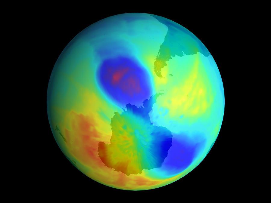 Ozone Hole Photograph - Antarctic Ozone Hole, September 2002 by Nasa