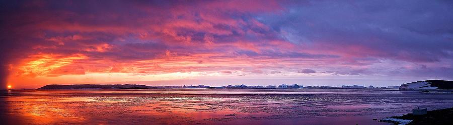Antarctica Photograph - Antarctic Sunset by David Barringhaus