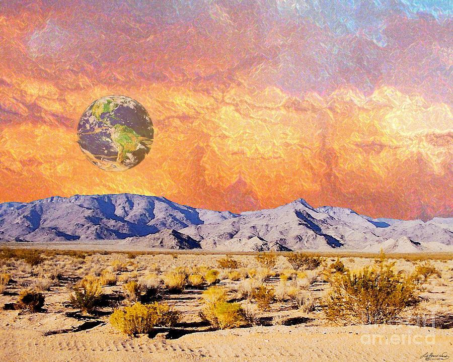 Earth Digital Art - California Dreaming by Lizi Beard-Ward