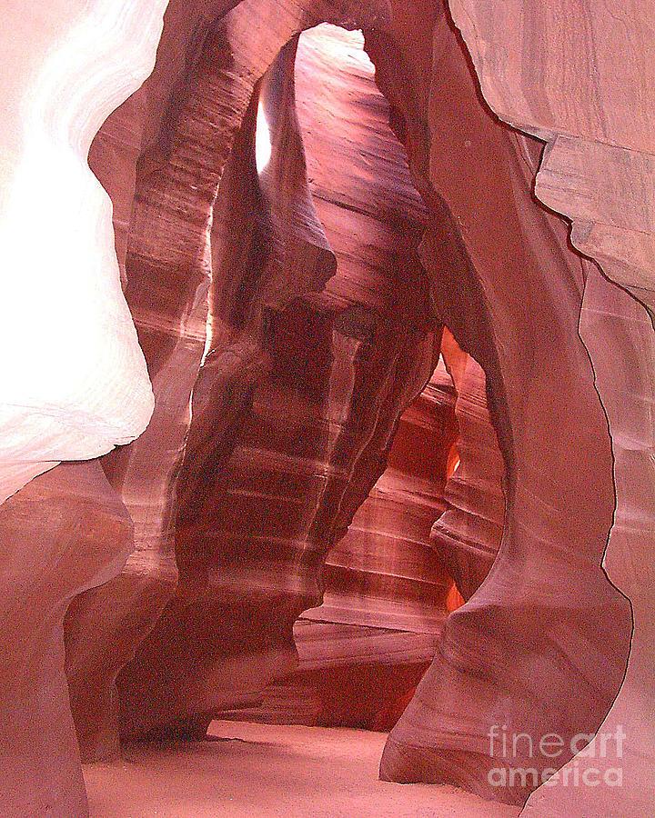 Antelope Slot Canyon Photograph - Antelope Slot Canyon View Just Inside Entrance by Merton Allen