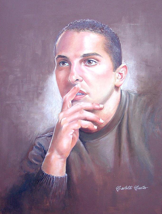 Portrait Painting - Anthony Frizano by JoAnne Castelli-Castor