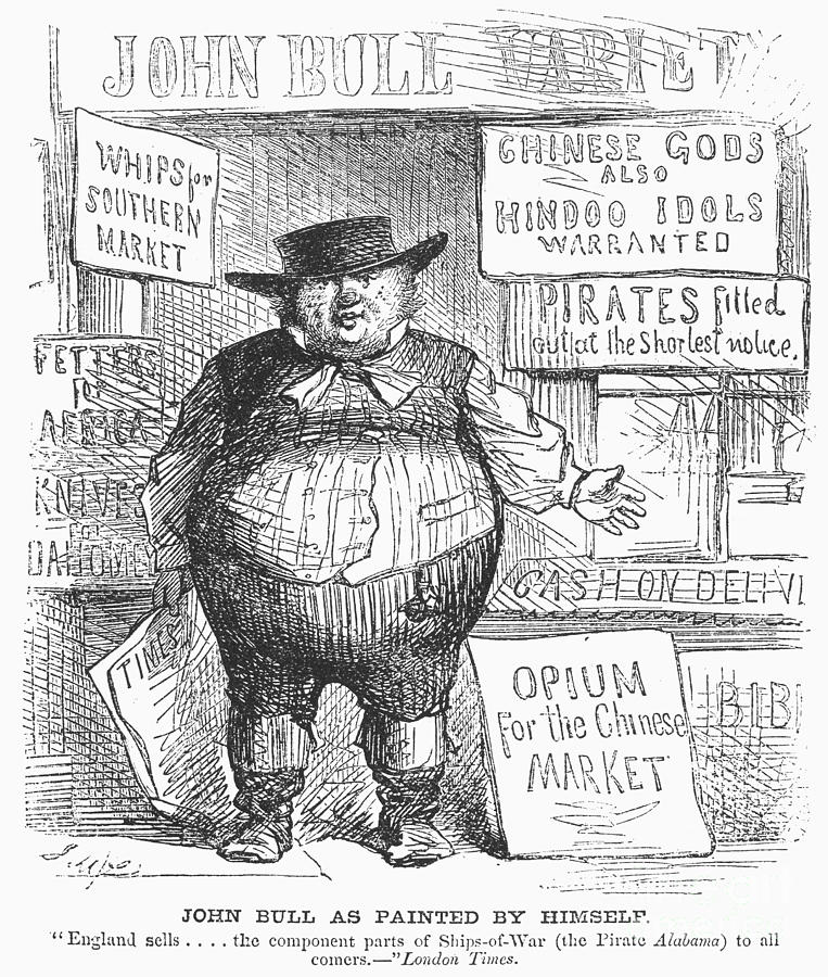 1862 Photograph - Anti-british Cartoon 3085dd20f3c1
