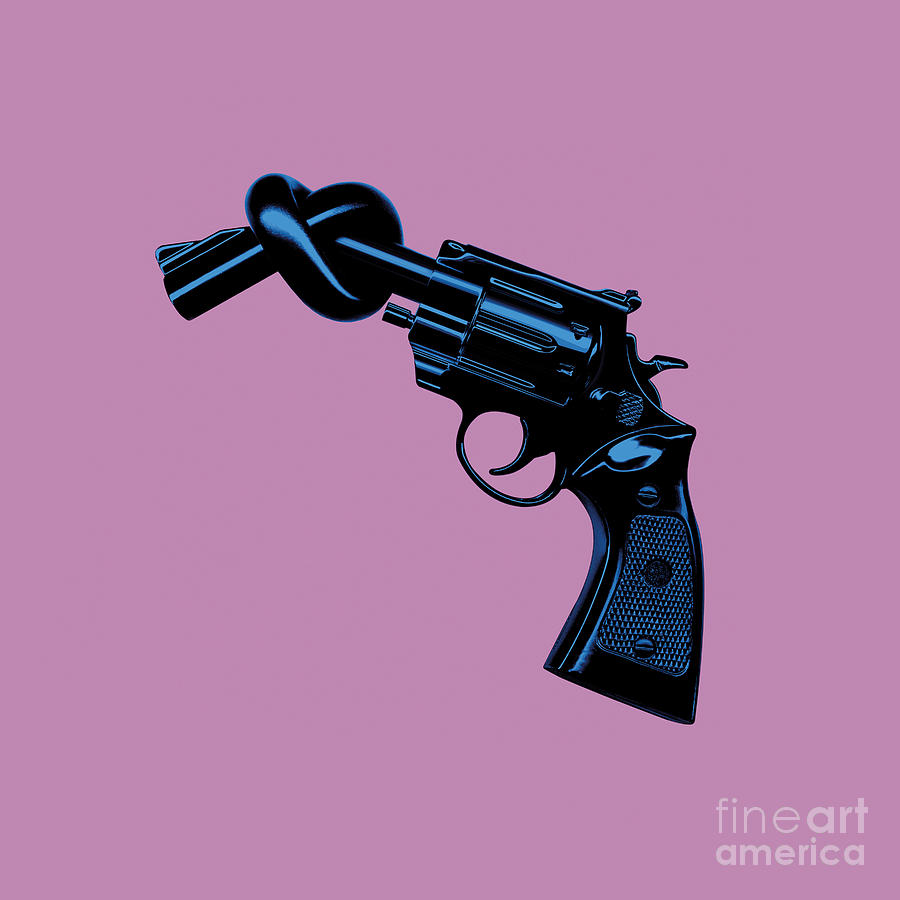 Tim Bird Digital Art - Anti Gun by Tim Bird