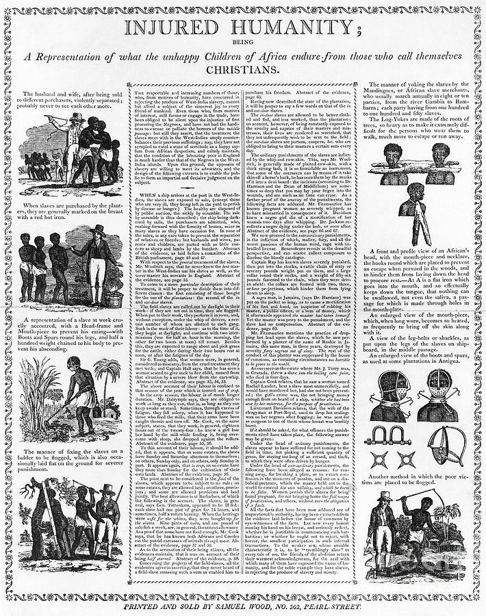1807 Photograph - Anti-slavery Broadside by Granger