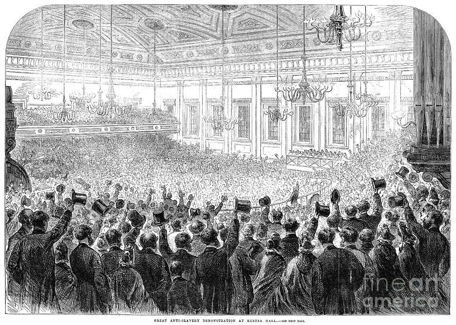 1863 Photograph - Anti-slavery Meeting, 1863 by Granger