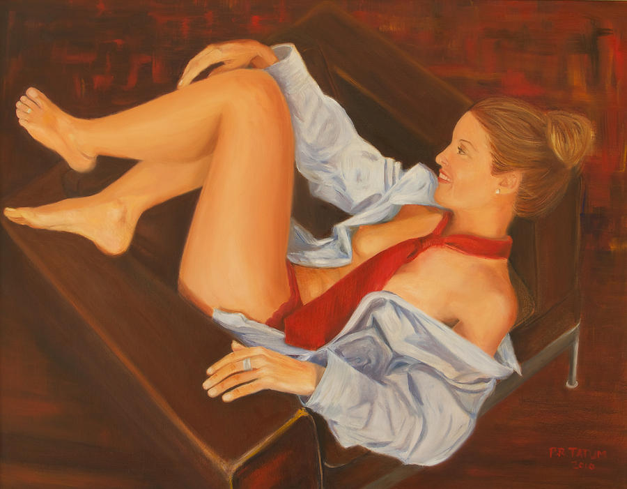 Nude Painting - Anticipation by Pamela Ramey Tatum