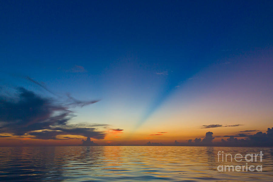 Anticrepuscular Rays Photograph - Anticrepuscular Rays by Jen TenBarge