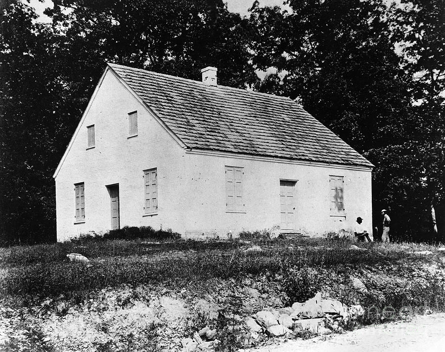 1862 Photograph - Antietam: Dunker Church by Granger