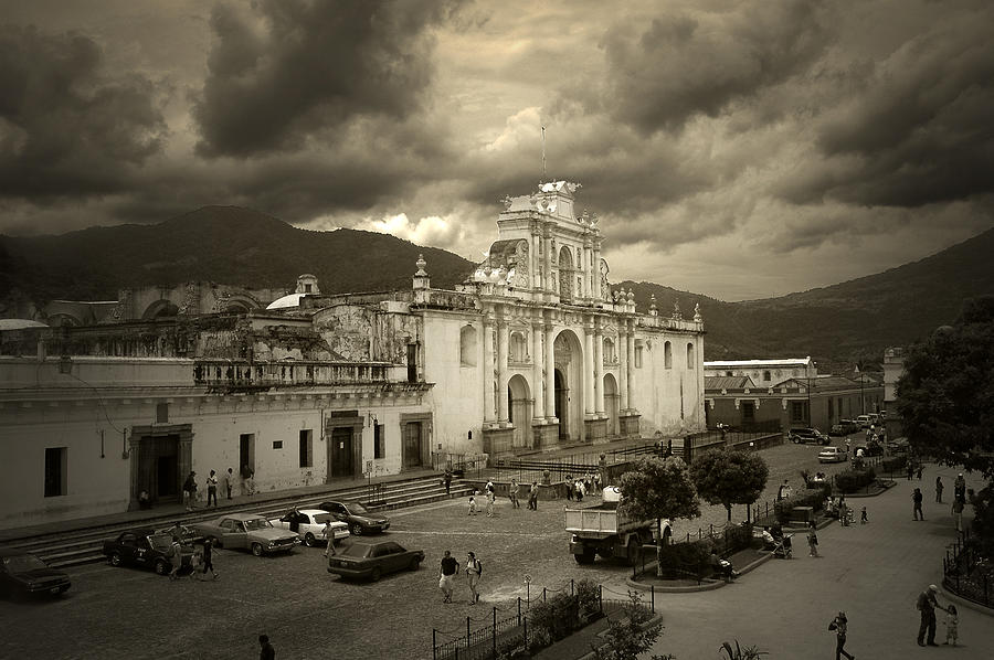Church Photograph - Antigua Cathedral by Tom Bell