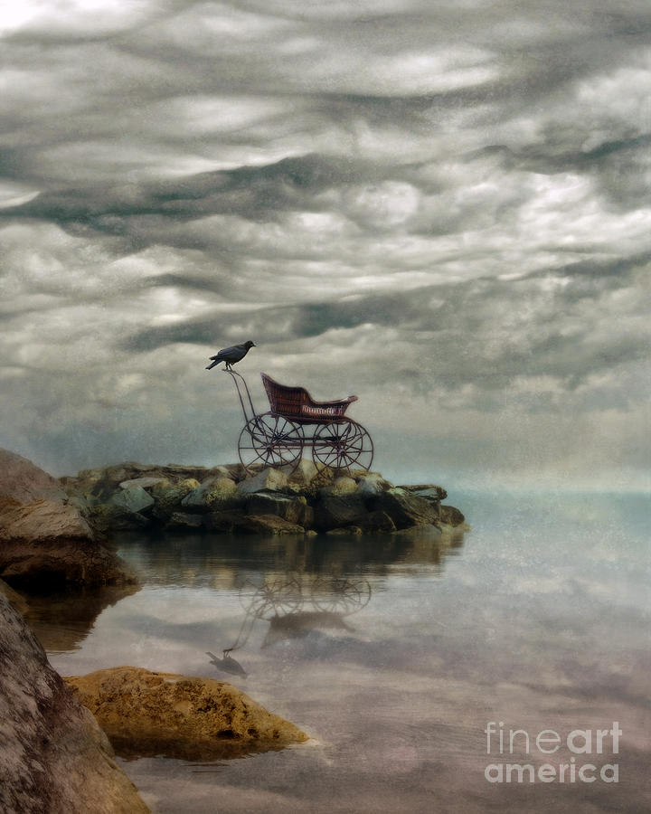 Buggy Photograph - Antique Baby Buggy By The Sea by Jill Battaglia