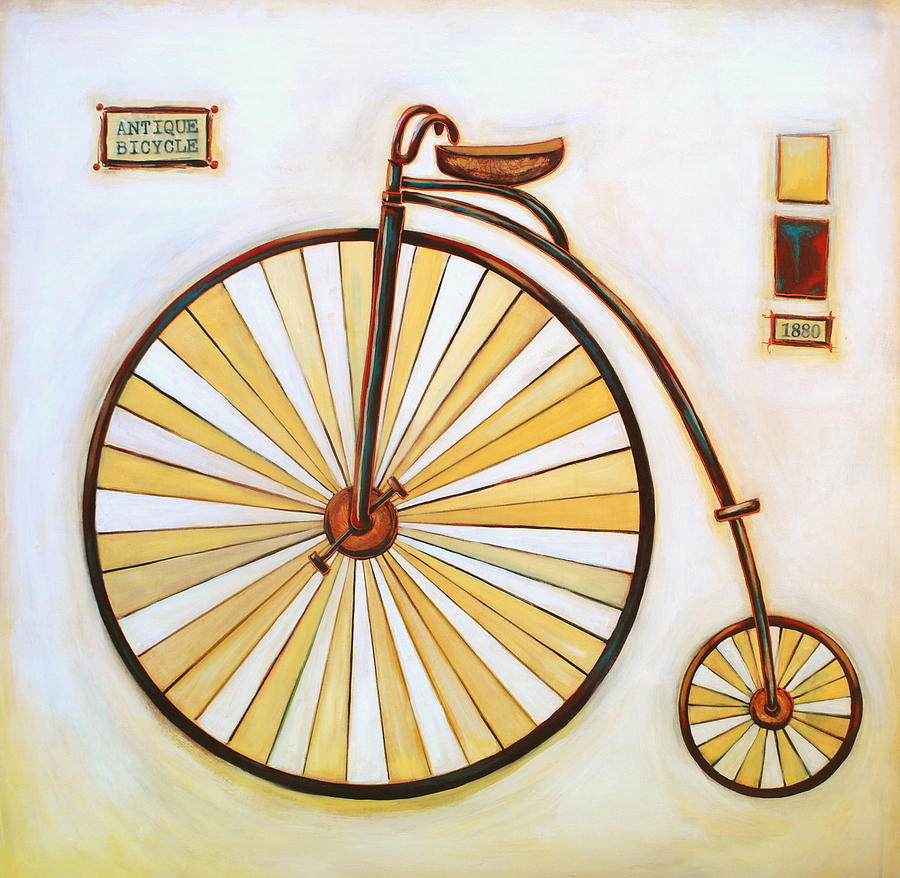 Antique Bicycle Painting by Lori McPhee