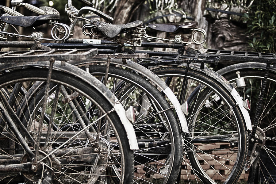Antique Photograph - Antique Bicycles by Thomas  von Aesch