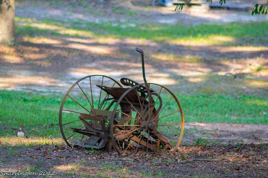 Antique Photograph - Antique Farm Equipment by Shannon Harrington