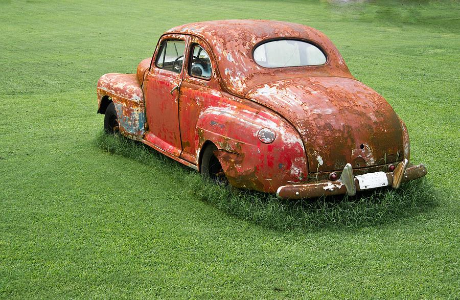 Nostalgia Photograph - Antique Ford Car 5 by Douglas Barnett