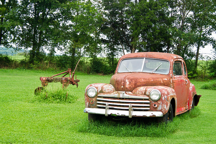 Nostalgia Photograph - Antique Ford Car 6 by Douglas Barnett