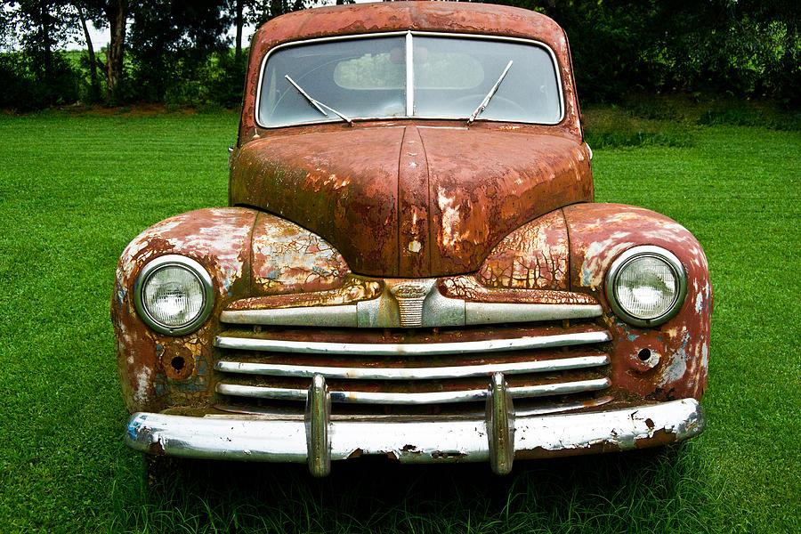 Nostalgia Photograph - Antique Ford Car 8 by Douglas Barnett