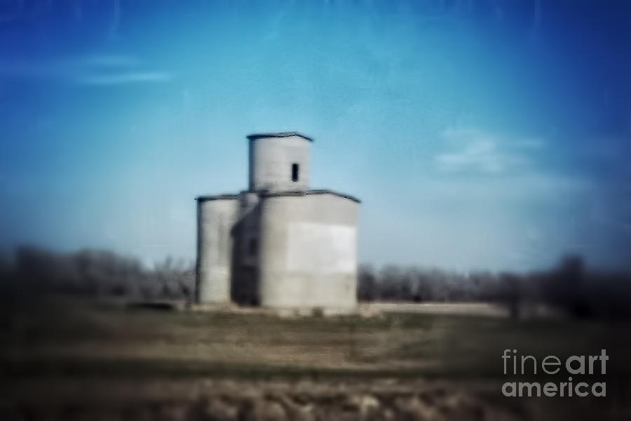 Grain Elevator Photograph - Antique Grain Elevator by Jeremy Linot