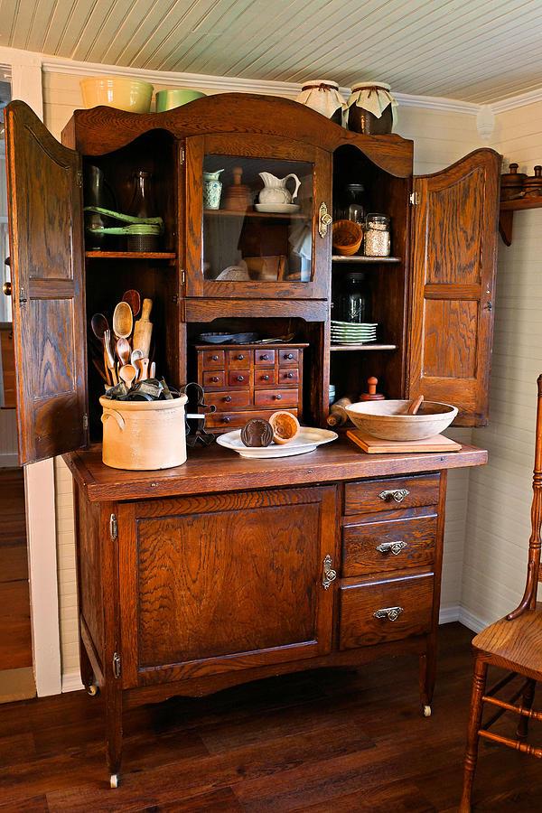 Antique Hoosier Cabinet Photograph By Carmen Del Valle