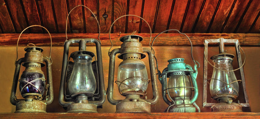 Antique Kerosene Lamps Photograph by Dave Mills