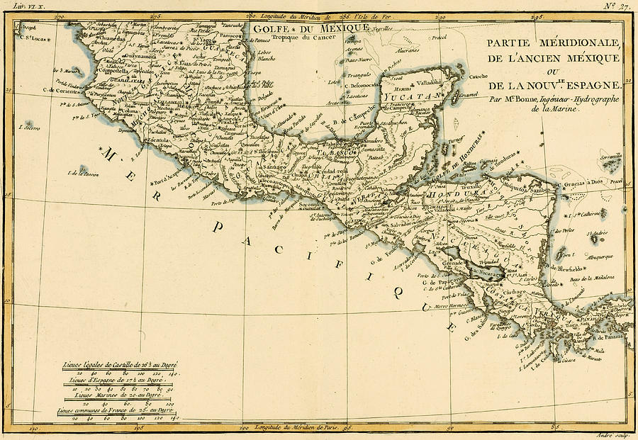 maps drawing antique map of southern mexico by guillaume raynal