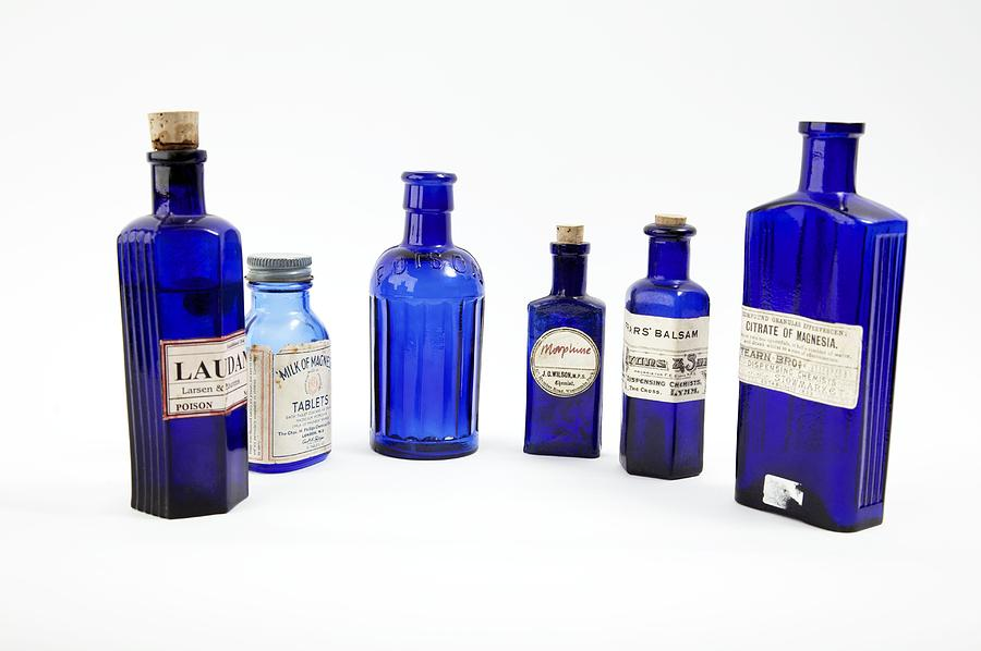 Bottle Photograph - Antique Pharmacy Bottles by Gregory Davies, Medinet Photographics