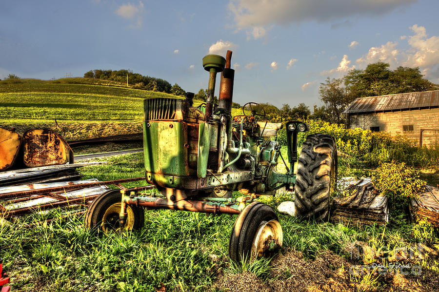 Antique Tractor Photograph - Antique Tractor by Dan Friend